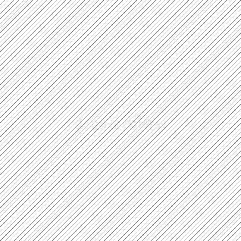 Linee oblique diagonali gradazione di grigio ripetibile, modello monocromatico illustrazione di stock