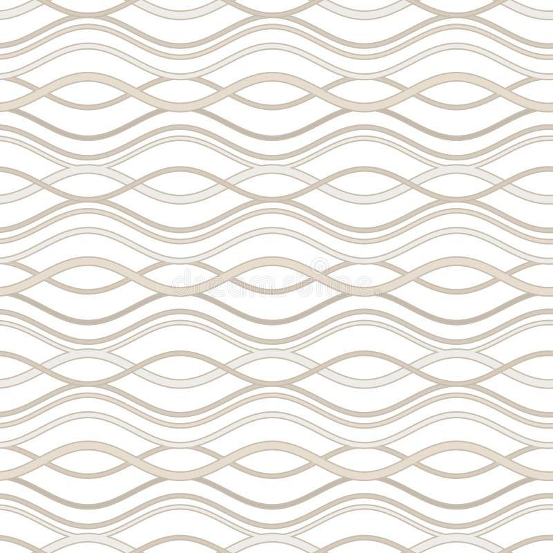 Linee ondulate astratte illustrazione di stock