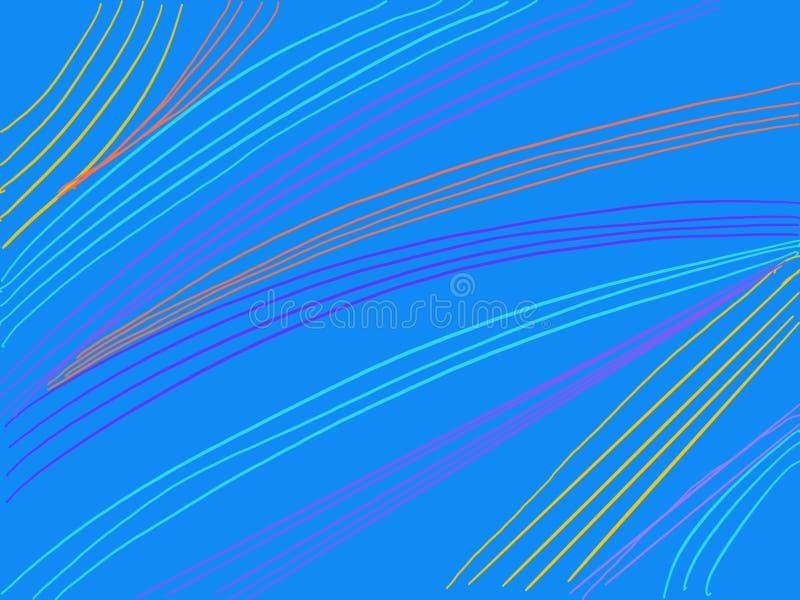 Linee ondulate del fondo variopinto delle bande illustrazione vettoriale