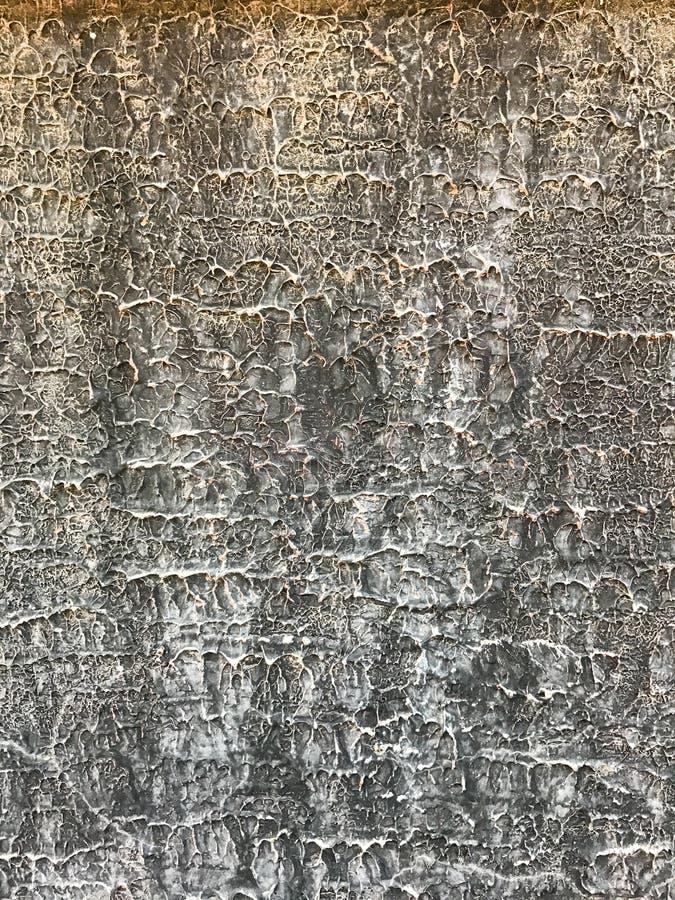 Linee ondulate grige bianche struttura sulla superficie della parete del cemento, estratto del modello del fondo del primo piano  fotografia stock