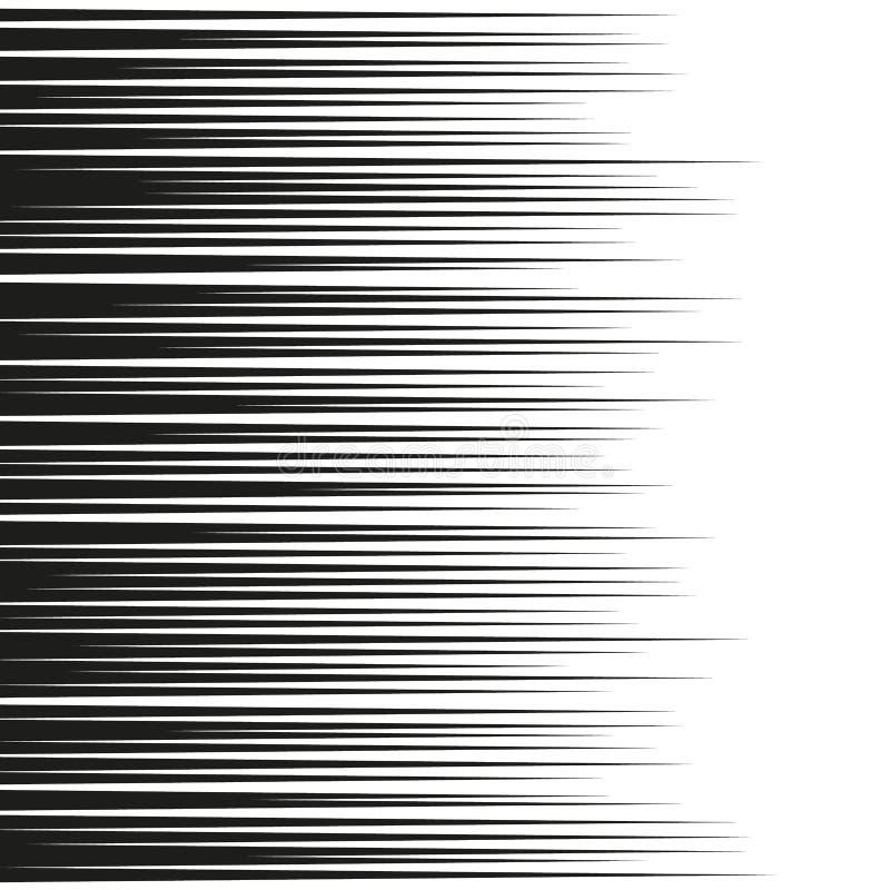 Linee orizzontali fondo di velocità del libro di fumetti Vettore illustrazione di stock