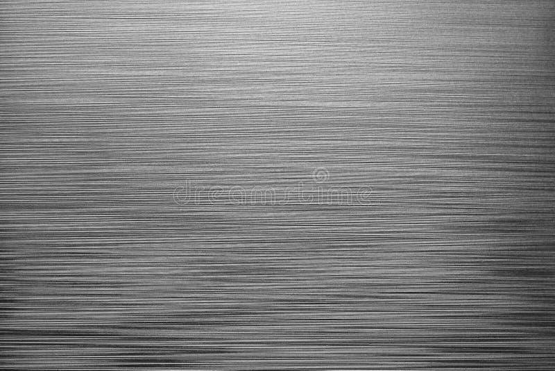 Linee orizzontali irregolari fondo Struttura di plastica grigia fotografia stock