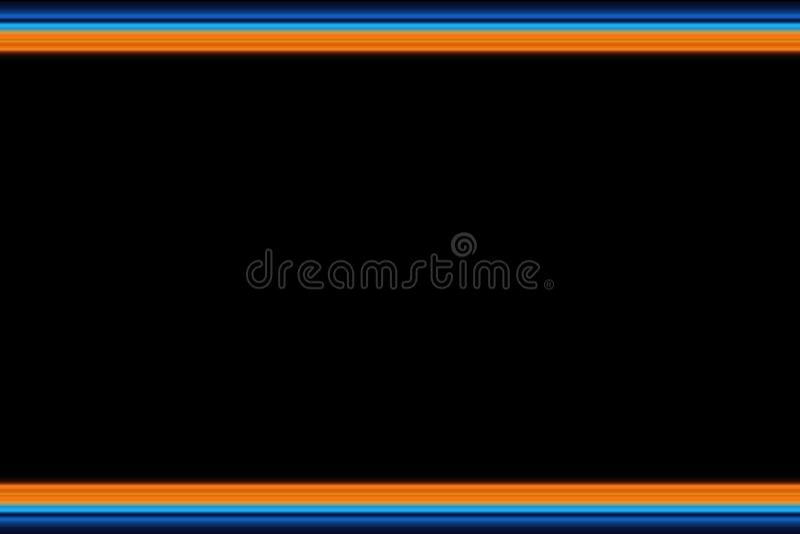 Linee orizzontali luminose fondo, struttura dell'estratto olorful del ¡ di Ð nei toni arancio e blu illustrazione vettoriale