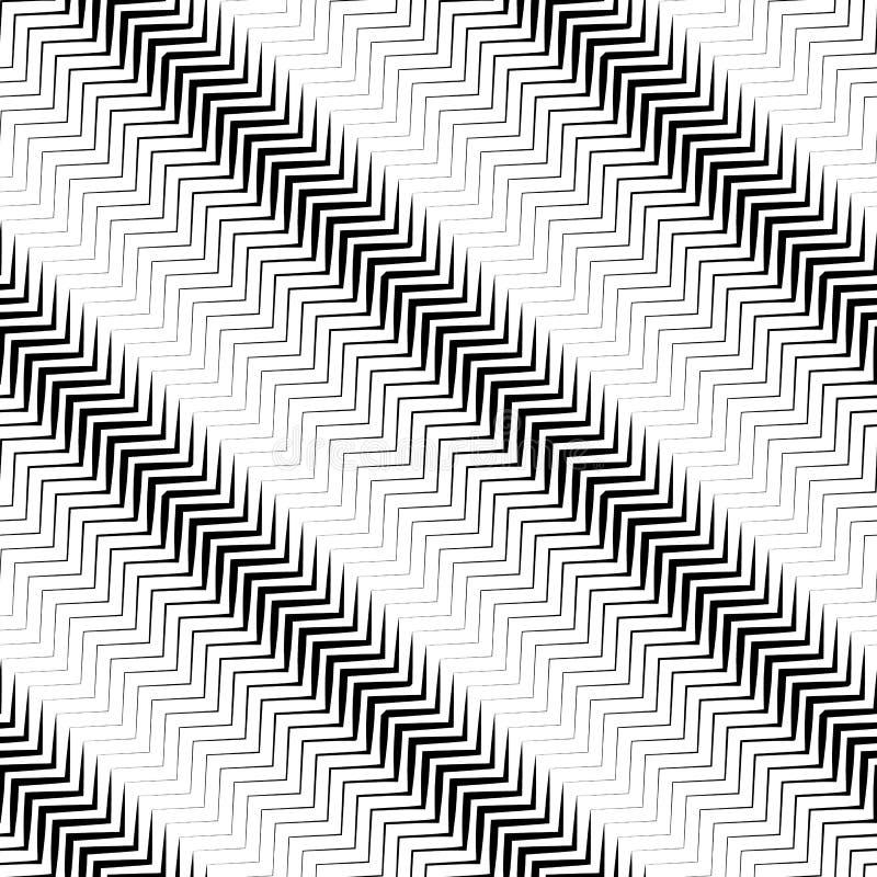 Linee parallele diagonali ondulate PA senza cuciture e ripetibile di monocromio royalty illustrazione gratis