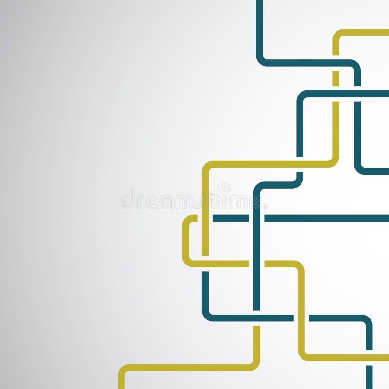 Download Linee ricce variopinte illustrazione vettoriale. Illustrazione di isolato - 55353143