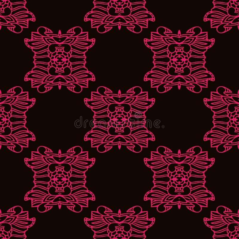 Linee rosa modello nello stile etnico illustrazione di stock