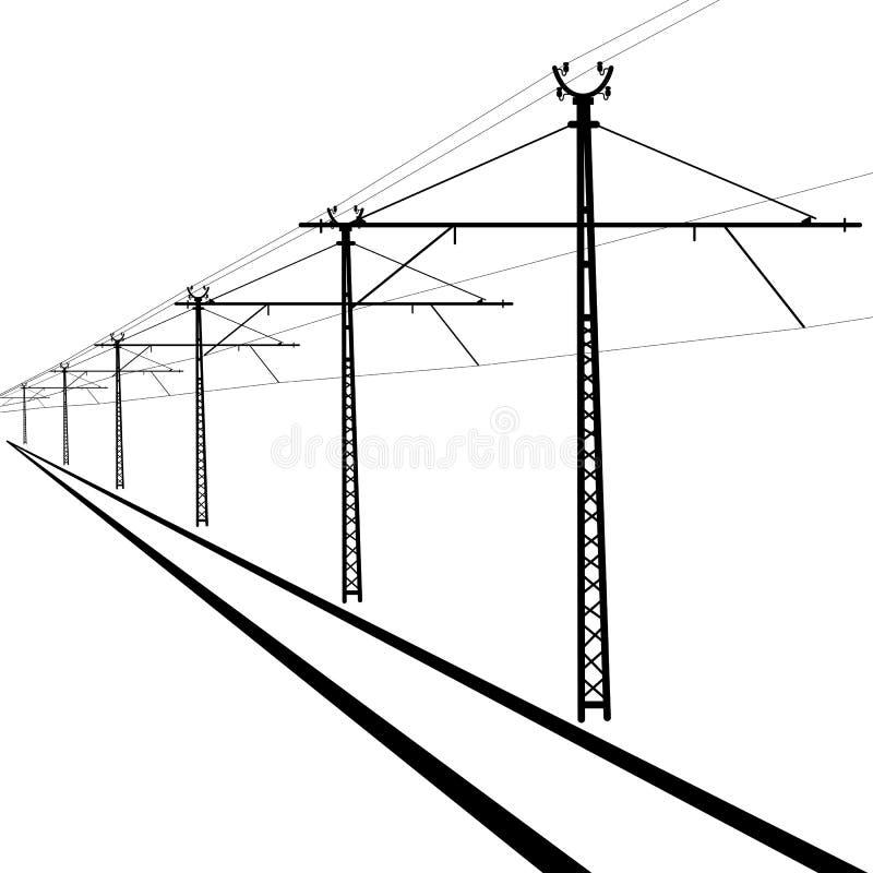 Linee sopraelevate della ferrovia illustrazione vettoriale