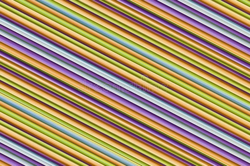 Linee sottili pendenti bande parallele porpora blu beige del fondo del fondo variopinto di progettazione fotografie stock libere da diritti