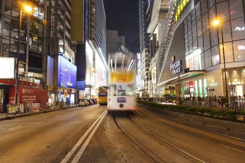 Linee tranviarie di Hong Kong fotografia stock
