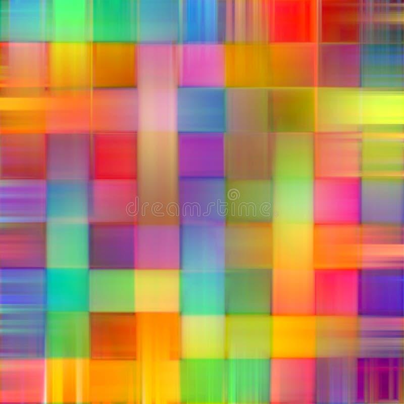 Linee vaghe arcobaleno astratto fondo di arte della pittura della spruzzata di colore illustrazione vettoriale