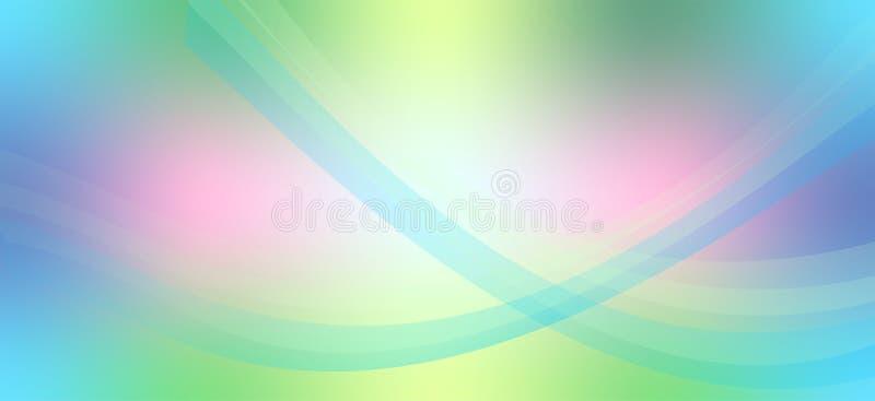 Linee variopinte eleganti fondo astratto dell'onda di stile futuristico royalty illustrazione gratis