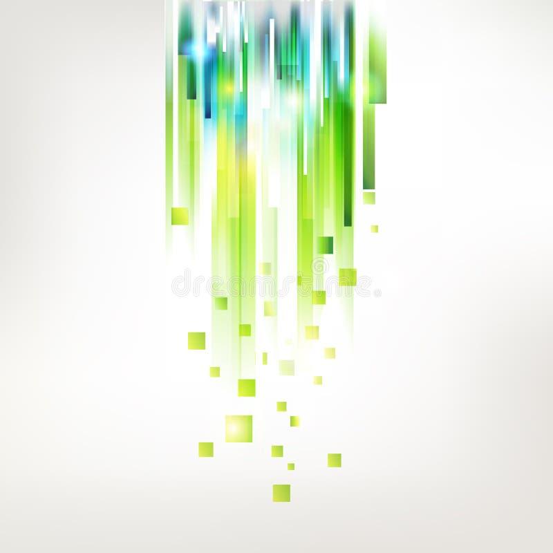 Linee verde fresche astratte dalla cima illustrazione di stock