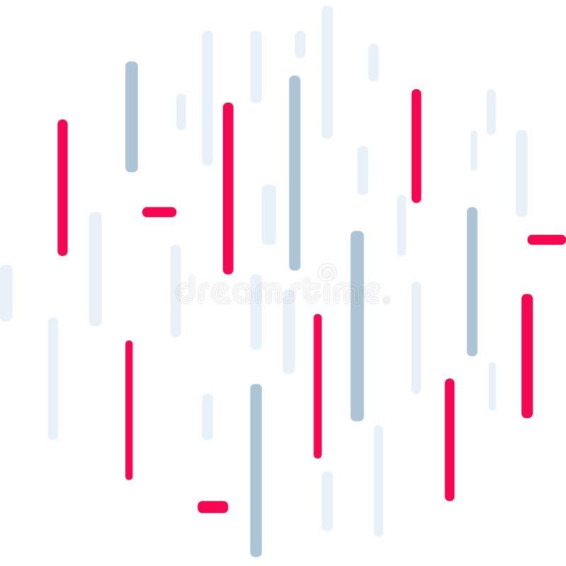 Linee verticali colorate su fondo bianco con l'accento rosso illustrazione vettoriale