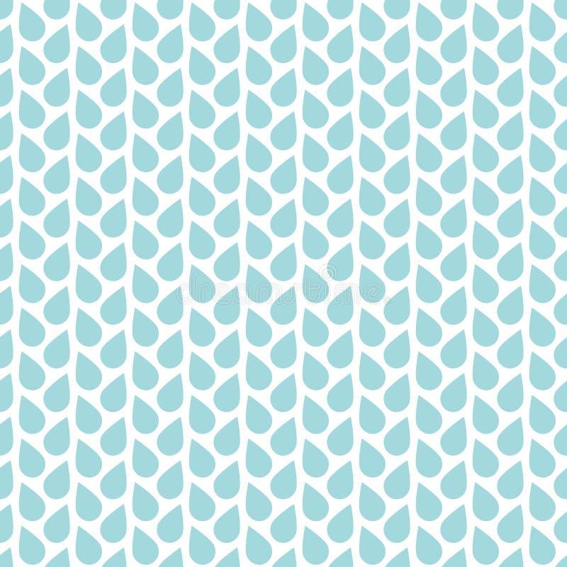 Linee verticali delle gocce di pioggia senza cuciture del modello blu e bianche illustrazione di stock