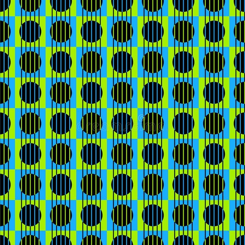 Linee verticali e cerchi senza cuciture illustrazione vettoriale