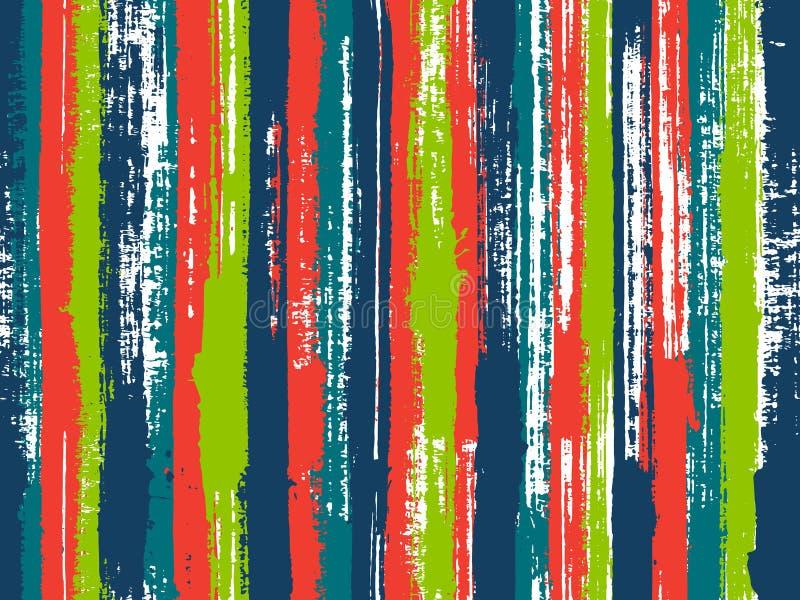 Linee verticali modello della covata irregolare dell'inchiostro del tessuto royalty illustrazione gratis
