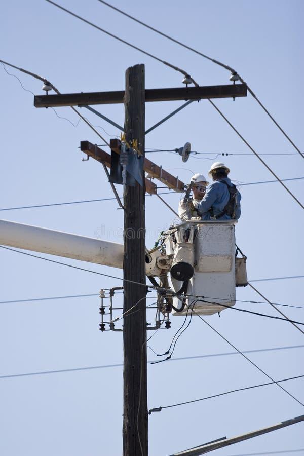 Download Linemen stock photo. Image of network, distribution, picker - 6472754
