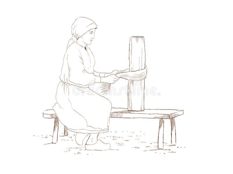 Linen изготовление стоковое изображение
