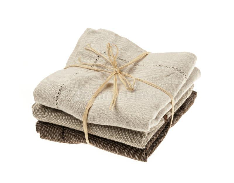 Linen салфетки стоковая фотография