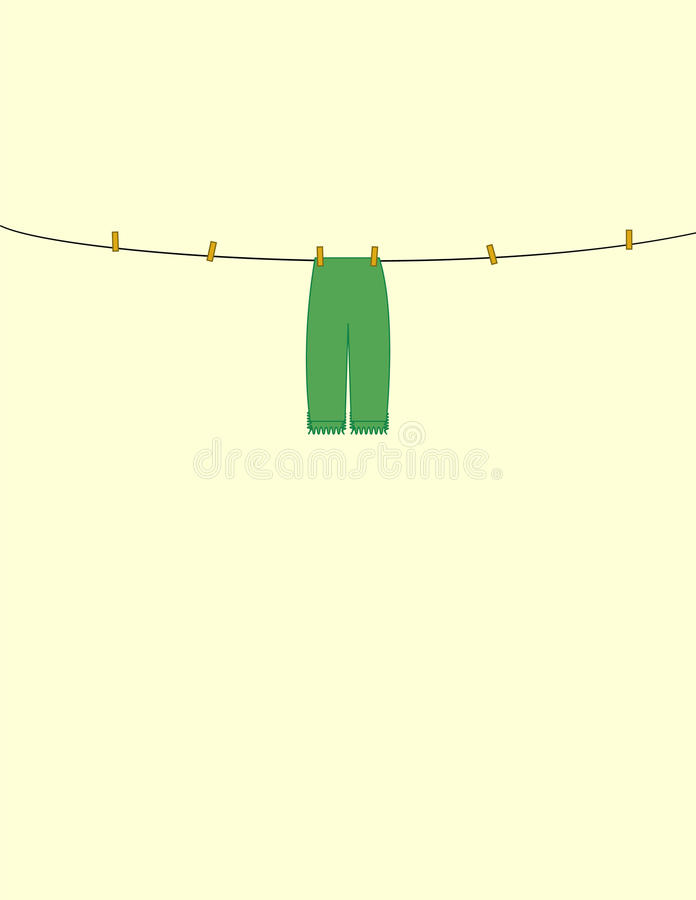 Download Linen stock vector. Illustration of dries, clothes, cord - 10942232