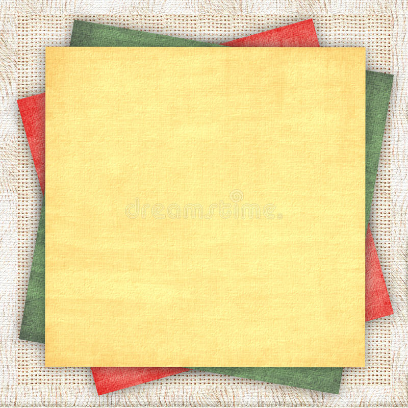 Download Linen Background With A Multi-coloured Paper Stock Images - Image: 10118144
