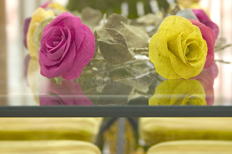 Download Linen Flowers on Table. stock photo. Image of display, europe - 451346