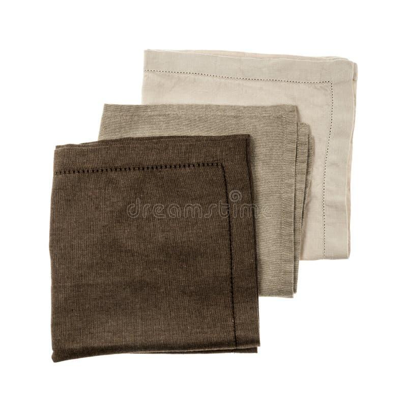 Linen napkins stock photo