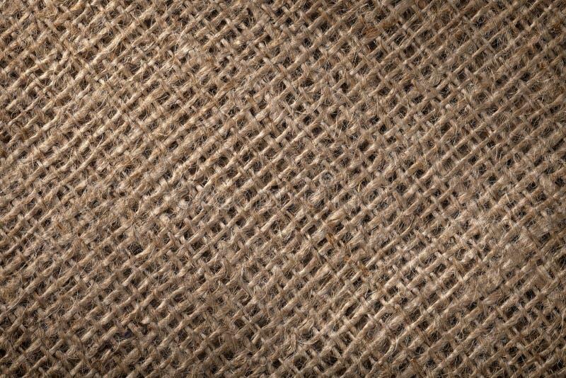 Linen sack background. Vintage style. Macro shot stock photos