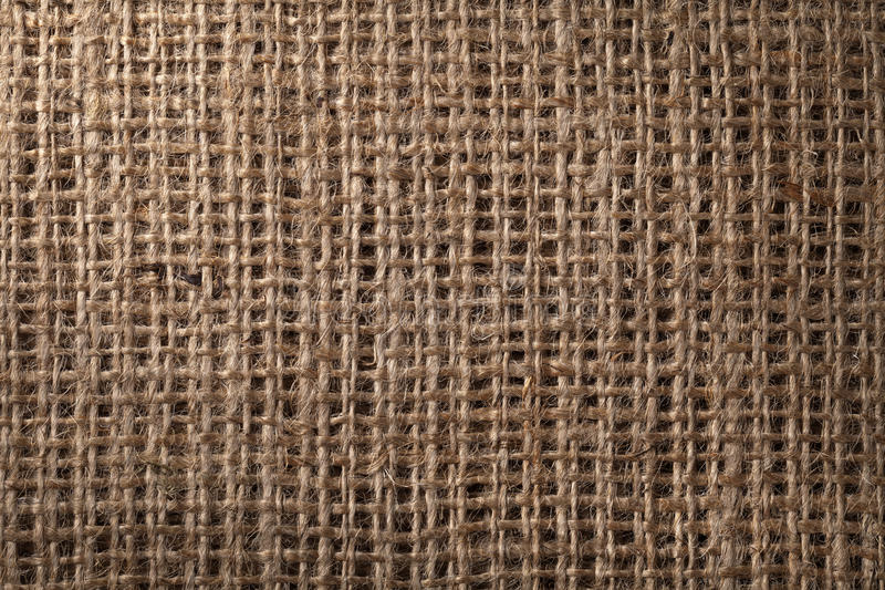 Linen sack background. Vintage style. Macro shot royalty free stock images