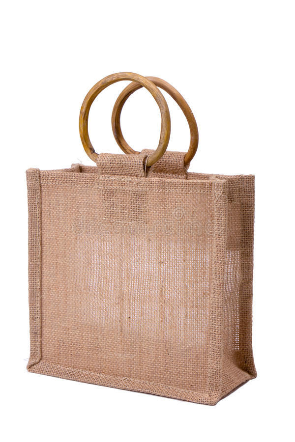 Download Linen shopping bag stock image. Image of marketing, handle - 22070675