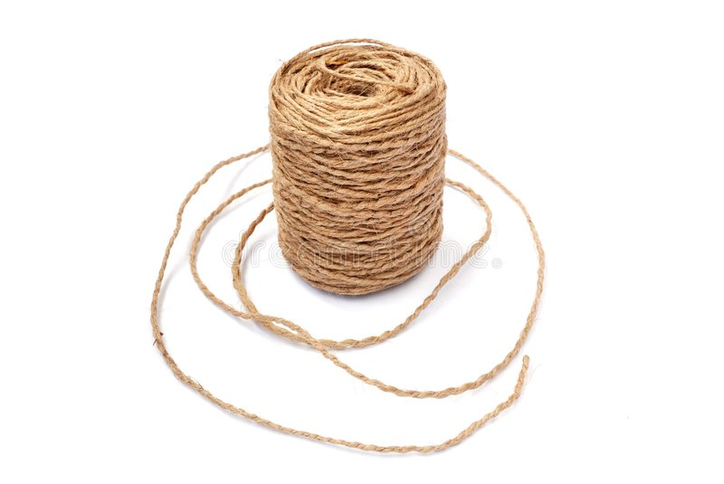 Linen string stock photo