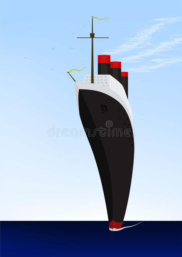 Liner ocean royalty free stock images