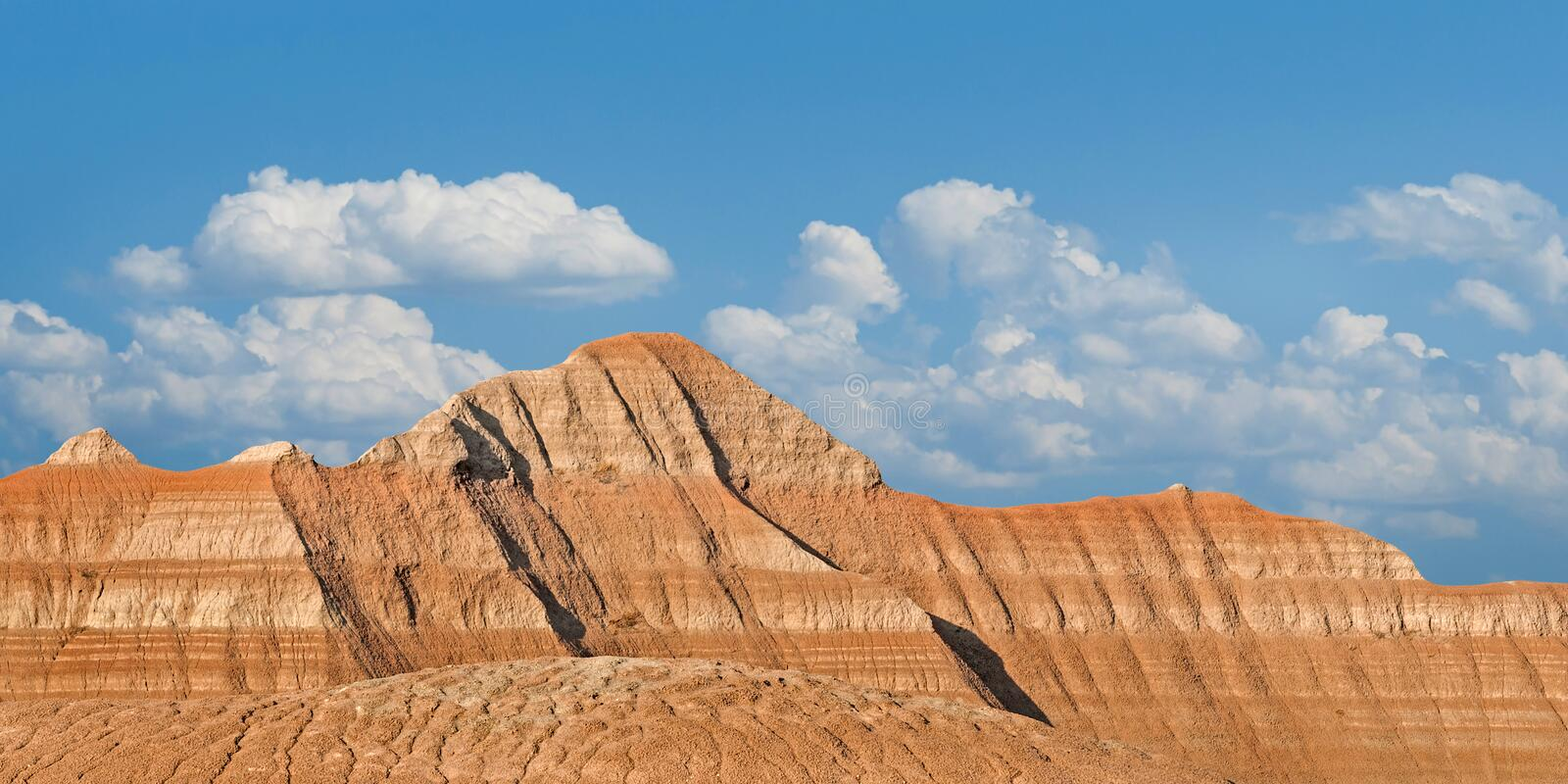 Lines Of The Badlands Royalty Free Stock Photos