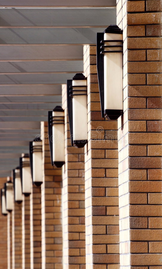 Lines Of The Building. Stock Photo