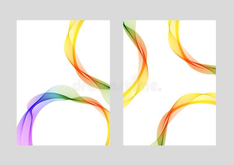 Lines cover design modern templates stock illustration
