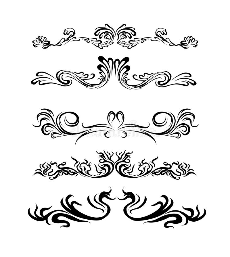 Lovely Design Elements Of Different Styles. Stock Vector   Illustration Of Flows,