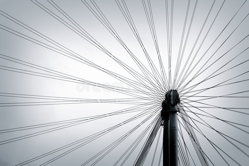 Lines diversification royalty free stock photo