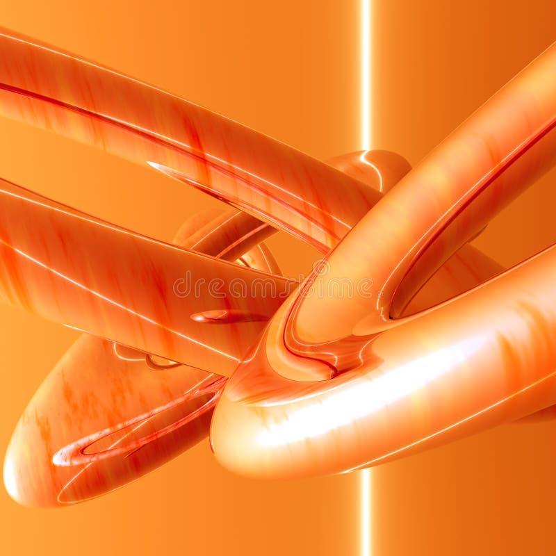lines orange rør royaltyfri illustrationer