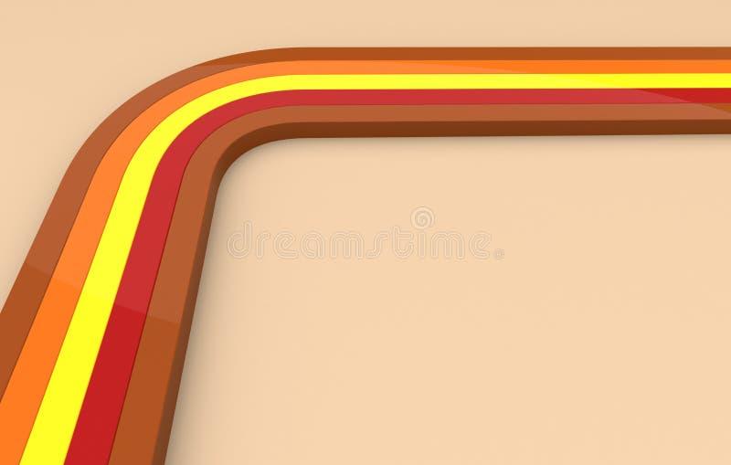 lines retro vektor illustrationer