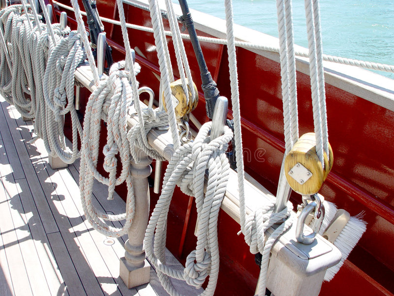 Lines on Sailboat royalty free stock photos