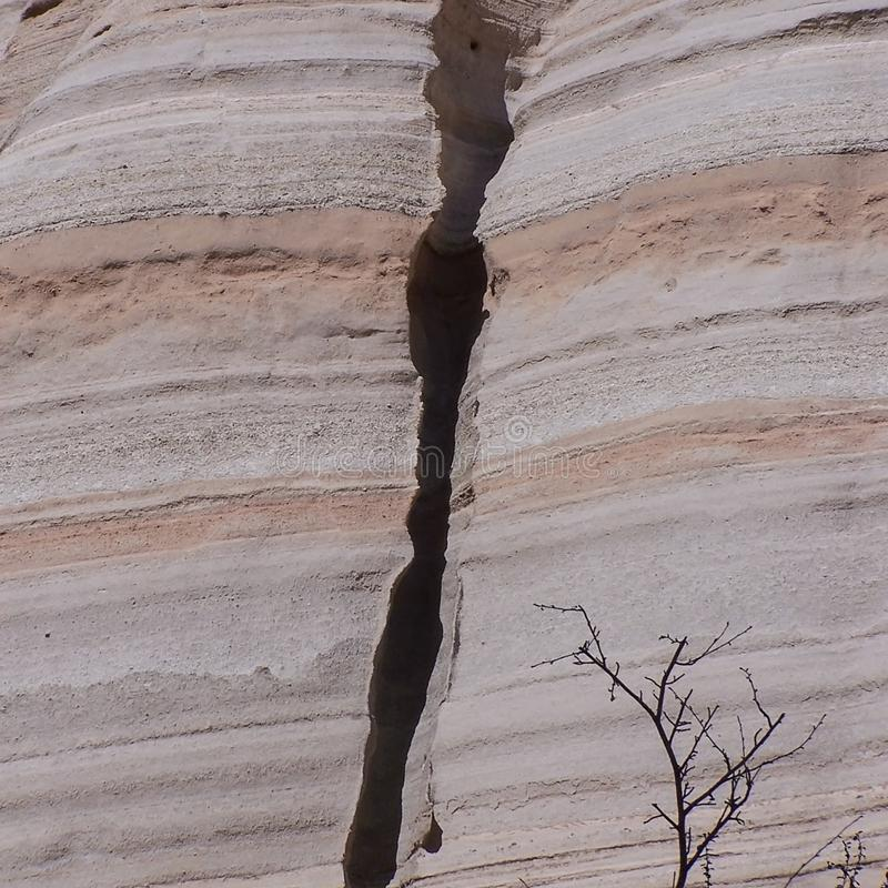 Ash layers at Tent Rocks National Park in New Mexico stock images