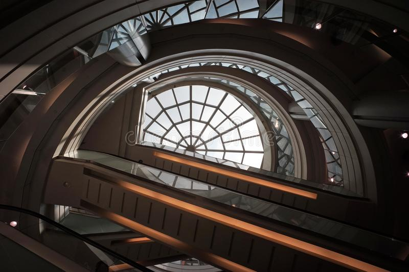 Lines and shape in shopping malls royalty free stock photos