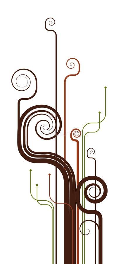 lines spiry royaltyfri illustrationer