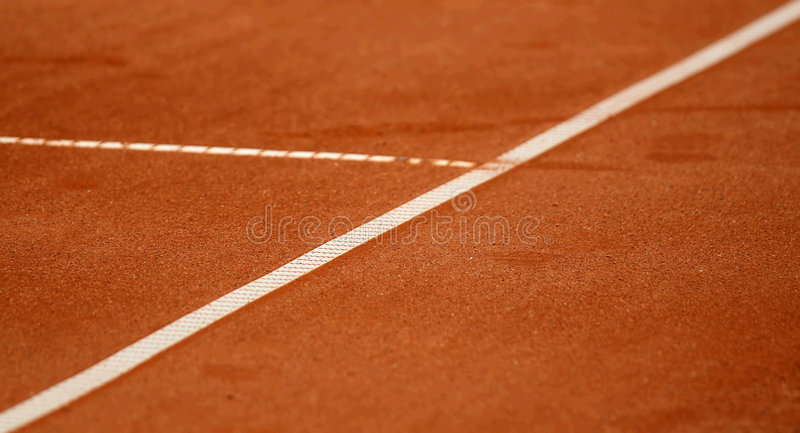 Download Lines on the tennis court stock image. Image of white - 2401709