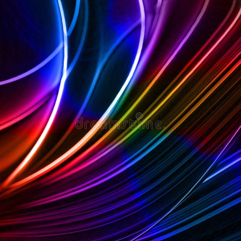 Lines4 colorido abstrato ilustração stock