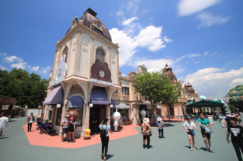 Lineshop Corea Seoul di Everland immagine stock