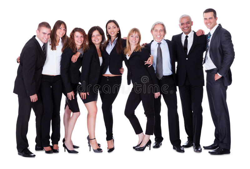 Lineup of business executives or partners royalty free stock image