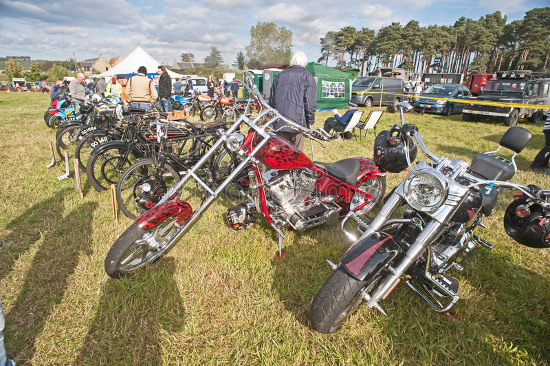 Lineup Of Motorbikes And Bicycles Editorial Image