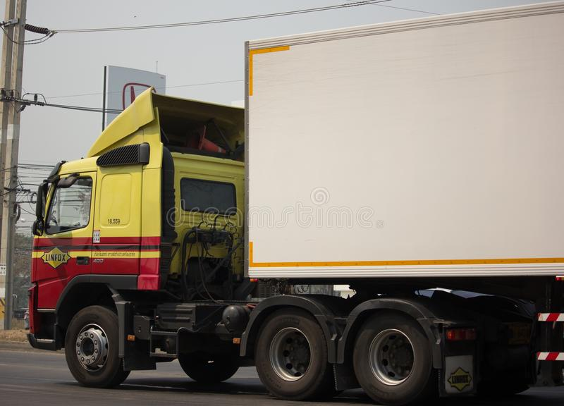 Linfox Truck and Container For Tesco lotus hypermarket royalty free stock image
