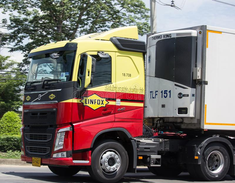 Linfox Truck and Container For Tesco lotus hypermarket stock photography